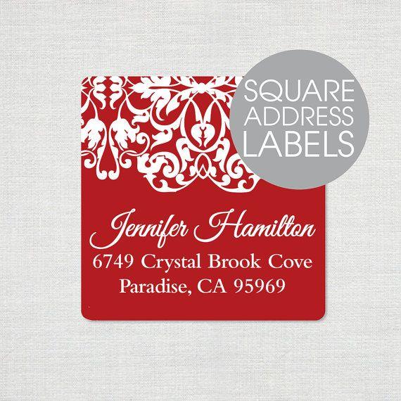 personalized return address LABEL - LACY EDGE - sticker - square label