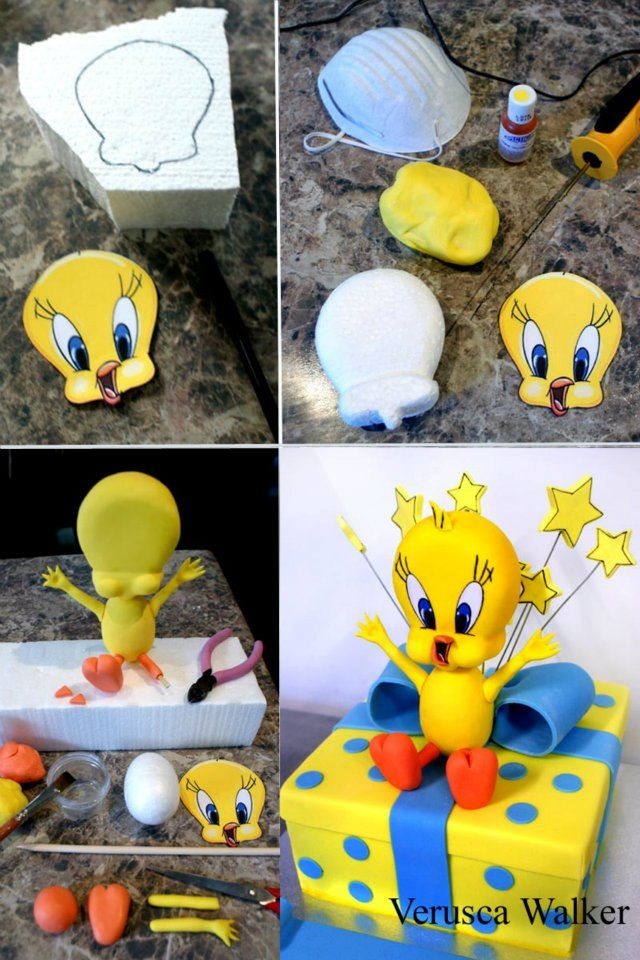 tweet bird cake by ~Verusca on deviantART   Fondant Figurines