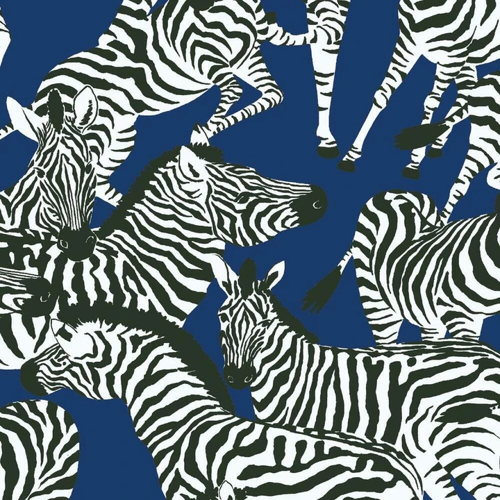Waverly Herd Together Peel And Stick Wallpaper In 2021 Zebra Wallpaper Peel And Stick Wallpaper Pattern Wallpaper