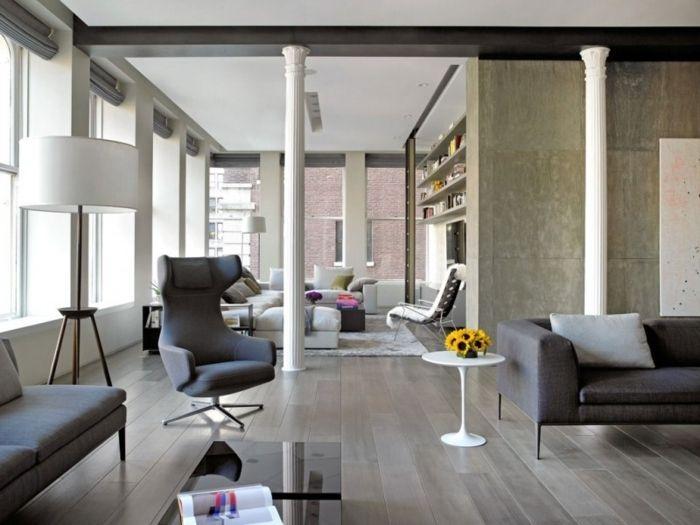 la deco loft new yorkais en 65 images modern living rooms modern living and living rooms. Black Bedroom Furniture Sets. Home Design Ideas