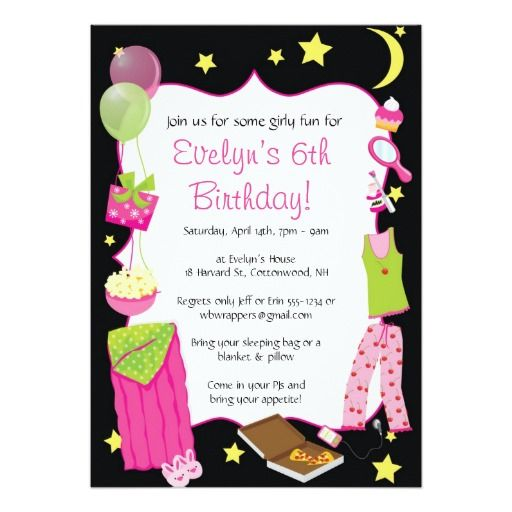 Deals Sleepover! Slumber Party Themed Invitations we are given they - best of birthday invitations sleepover party