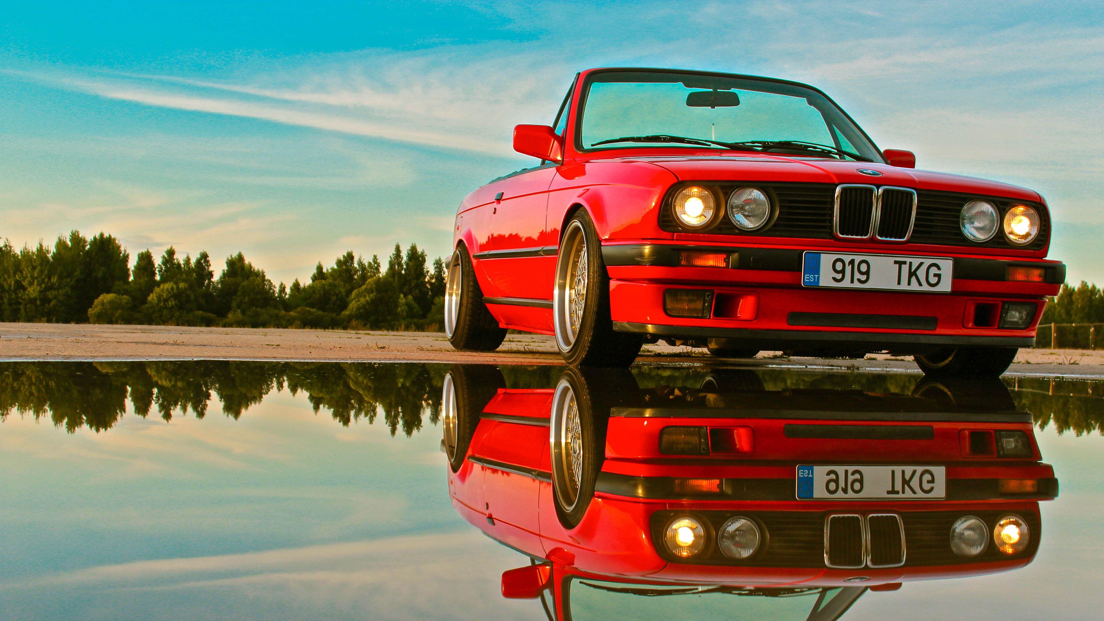#car #BMW #reflection BMW E30 #4K #wallpaper #hdwallpaper ...