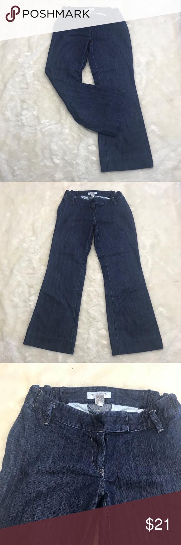 "60580519fbbc2 LIZ LANGE Maternity denim jeans Wide Leg Size 6 Liz Lange Maternity For  Target Denim Jeans Pants Size 6 Has Elastic Sides Waist 30"" Rise 8"" Length  top to ..."