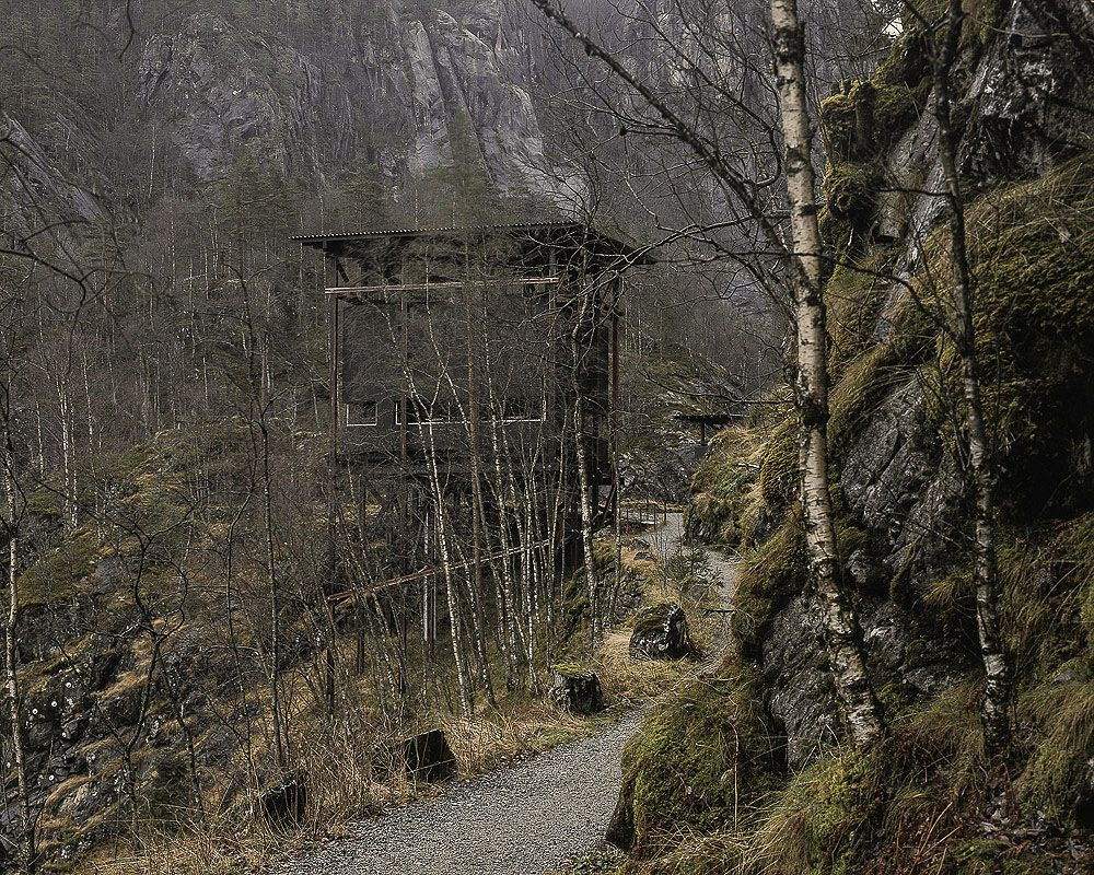 Peter Zumthor, Zinc Mine Museum Pathway to cafeteria