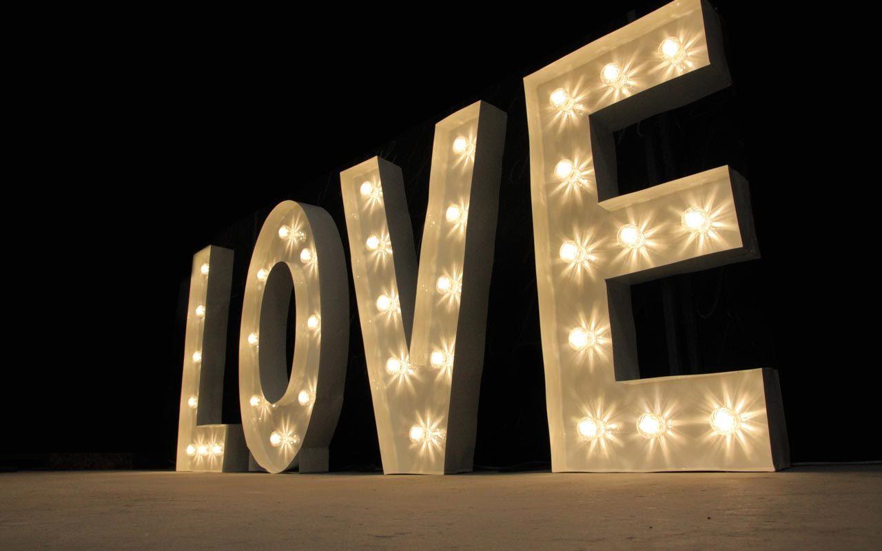 Letter Lights. Wedding & Event Lighting Hire. Melbourne
