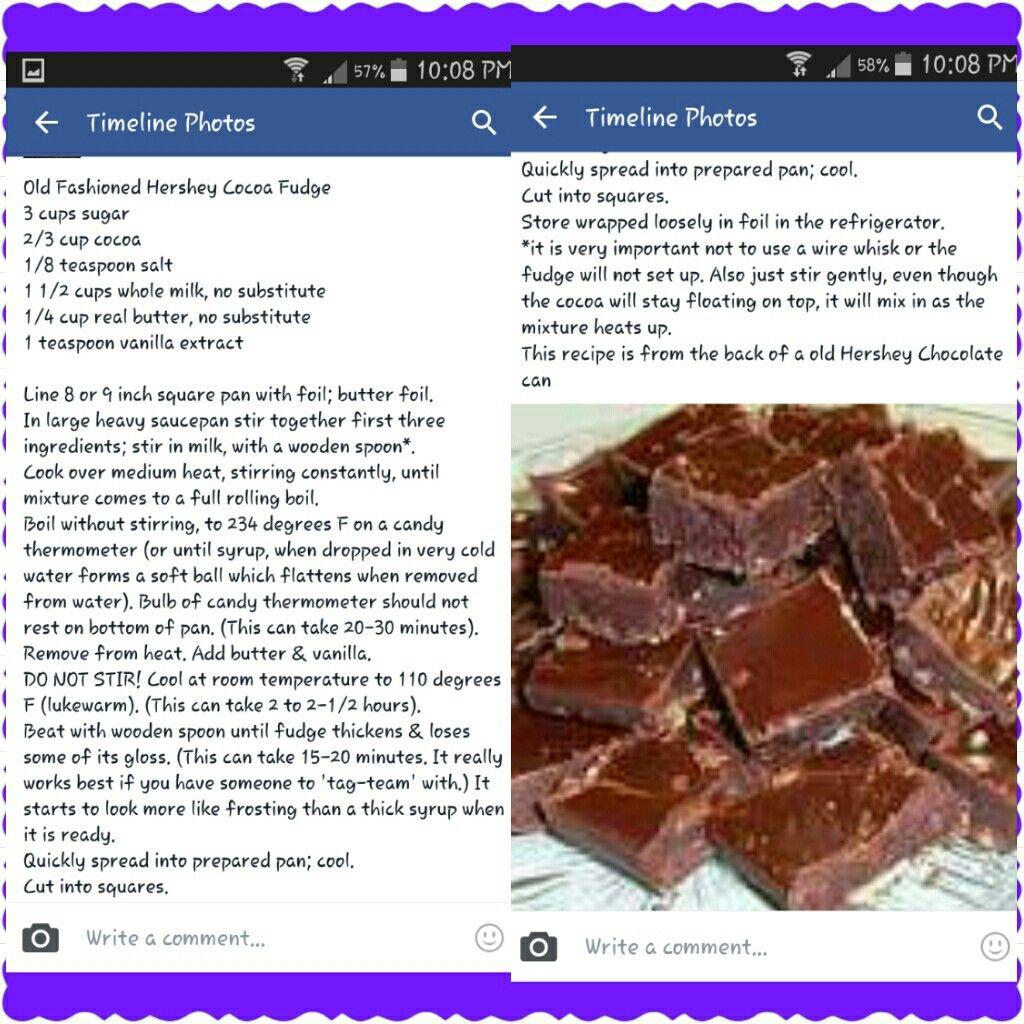 Old Fashioned Hershey\'s Cocoa Fudge | Fudge | Pinterest | Fudge ...
