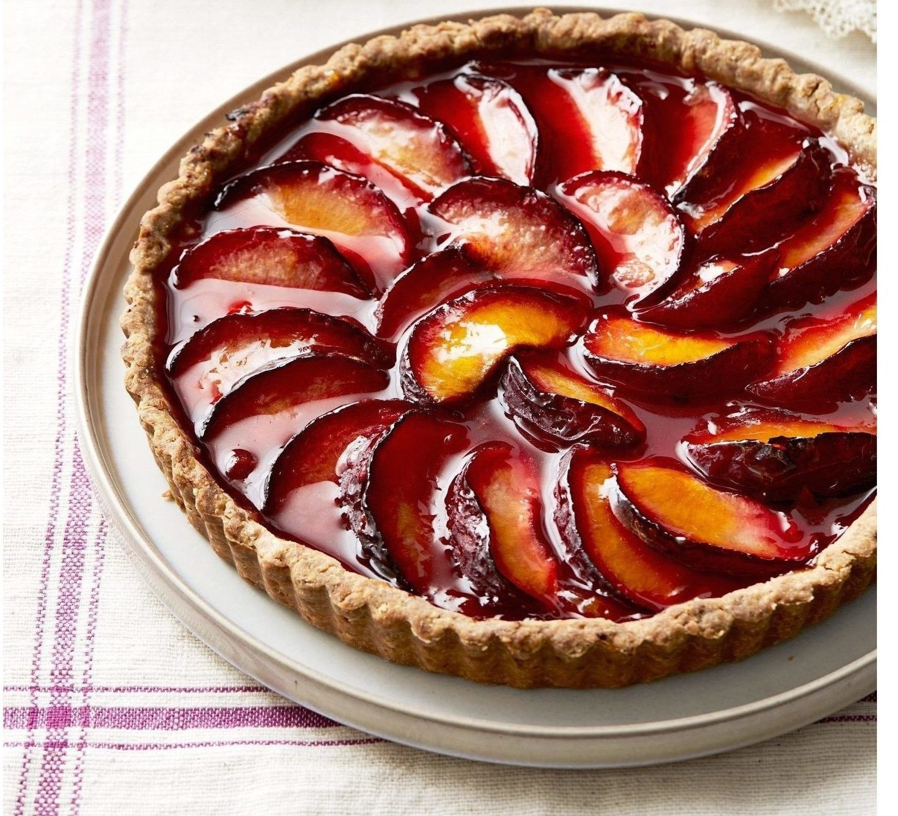 Just Wanted To Share This Delicious Recipe From Lidia Bastianich With You Buon Gusto Plum Tart Plum Dessert Plum Recipes Plum Tart