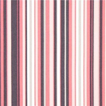 Pale Pink Grey And White Stripes Fabric By Michael Miller Fabric