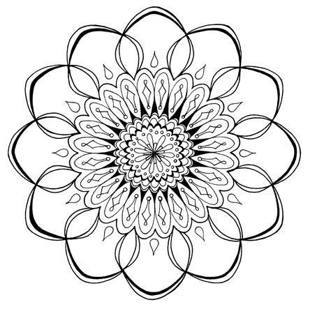 Mandala libre para colorear para imprimir | mandalak | Pinterest ...