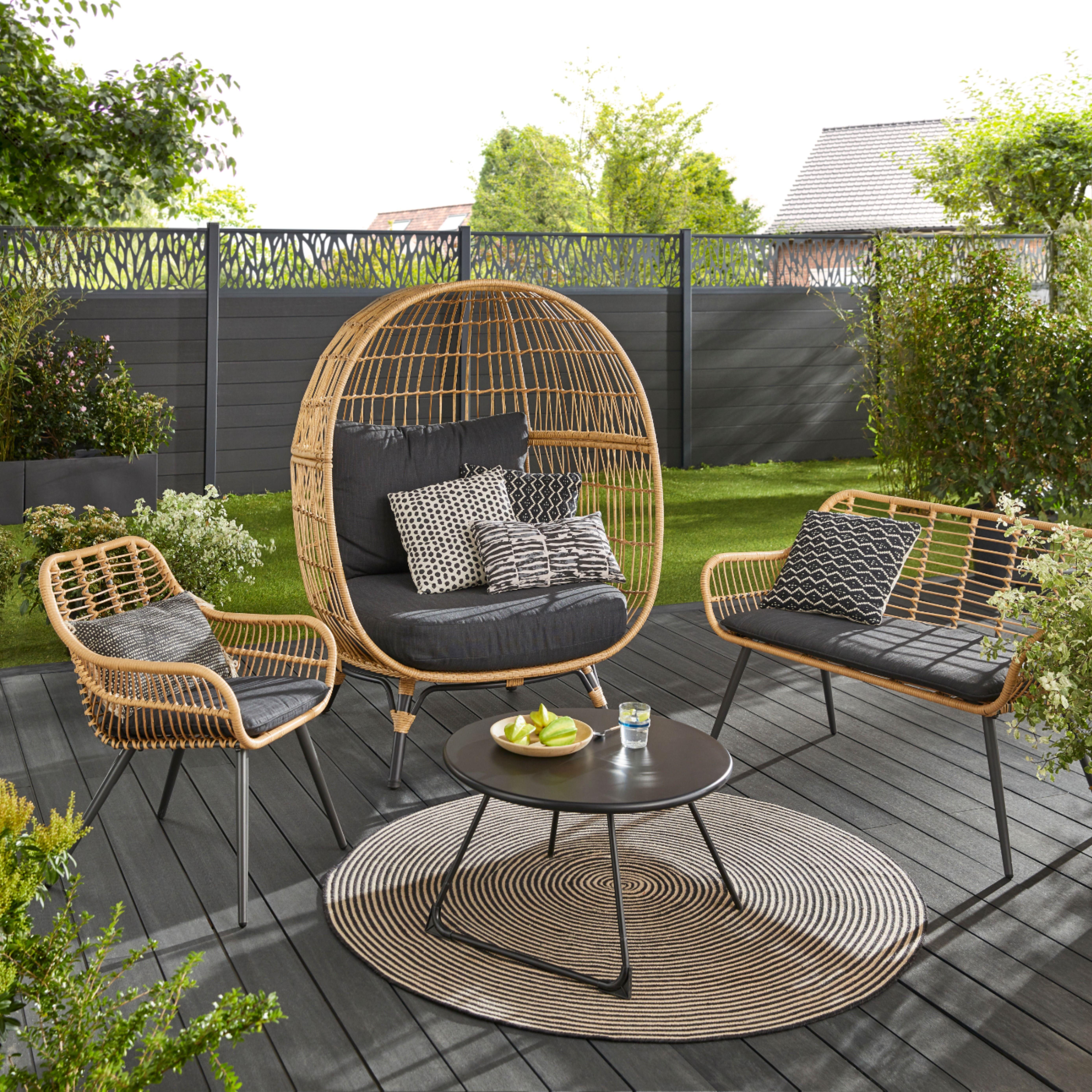 Lame De Cloture Composite Neva Anthracite Lot De 3 Lames En 2020 Decoration Terrasse Mobilier Jardin Chaise De Jardin