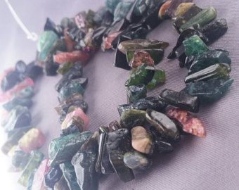 "Check out 94ct Rough Tourmaline Watermelon Natural Nugget Tube Beads 7"" Strand Multicolor Free Ship TMXT1R0005 on ungarimpex"
