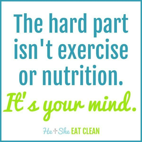 The hard part isn't exercise or nutrition. It's your mind. #quote #QOTD #fitness #workout #eatclean...
