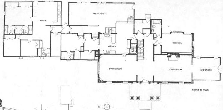 Elvis Presley S Graceland Floor Plan First Floor Plan 715 354 Graceland Elvis Presley Graceland Floor Plans