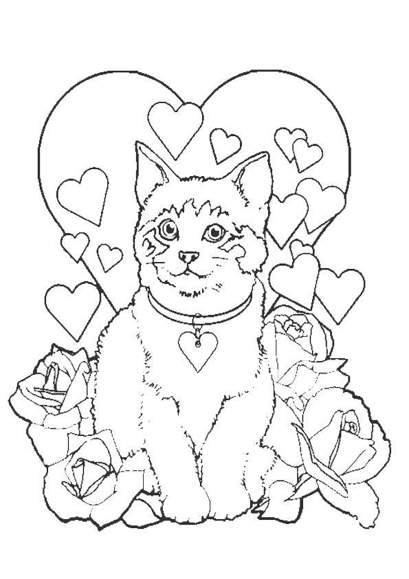 Katze-12 | Malvorlagen tiere, Ausmalbilder, Ausmalbilder ...
