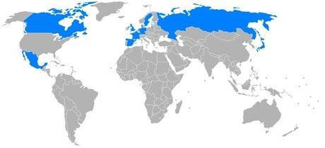 Países que en el pasado dominaban el territorio actual de EE.UU.