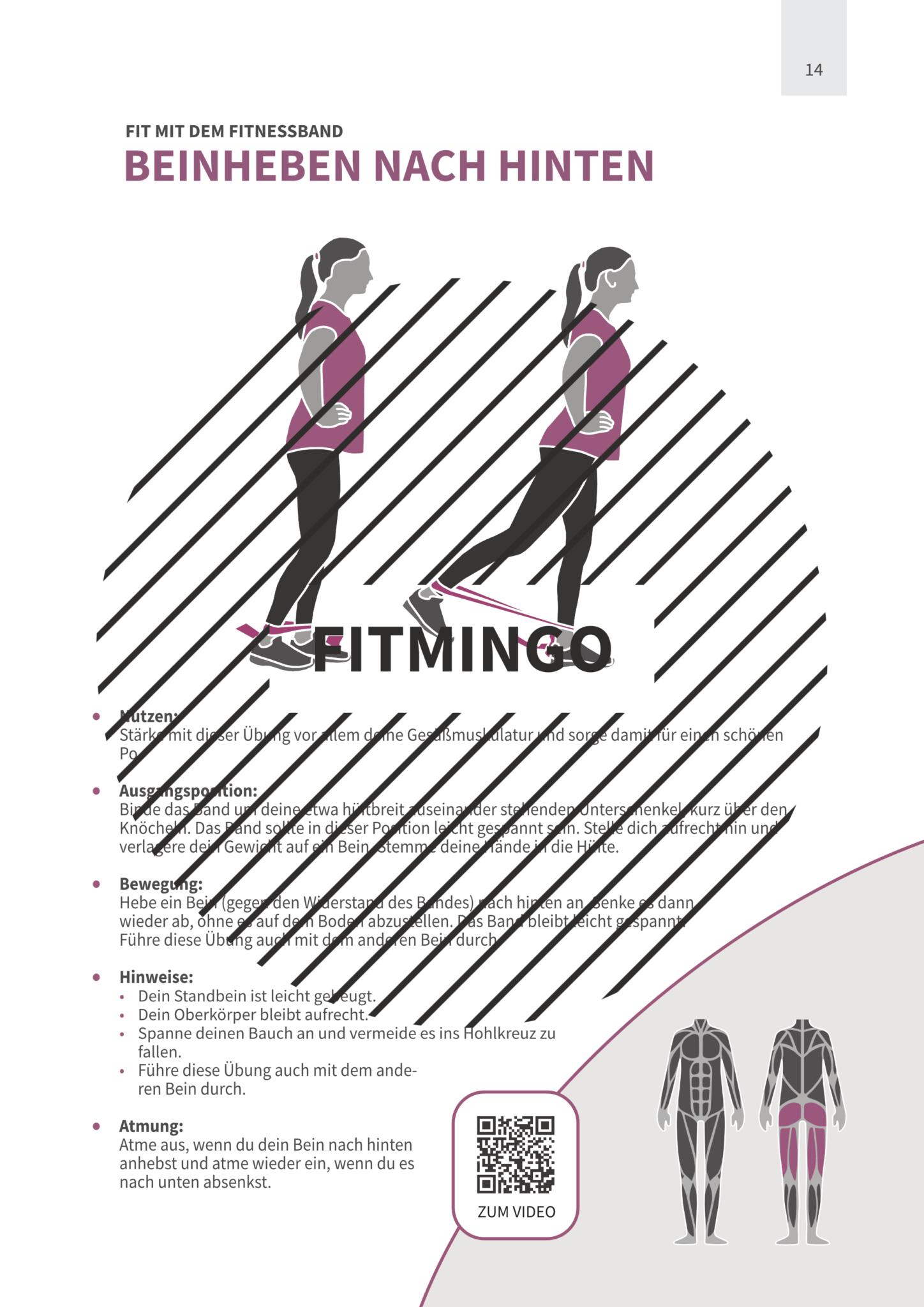 64 Effektive Ubungen Mit Fitnessband Fur Den Ganzen Korper Fitmingo In 2020 Band Workout Fitness Gymnastik Band