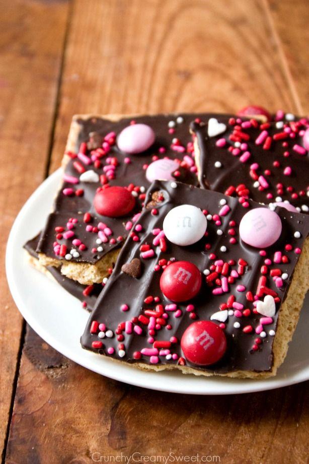 valentine's day chocolate bark | recipe | barking f.c., super easy, Ideas