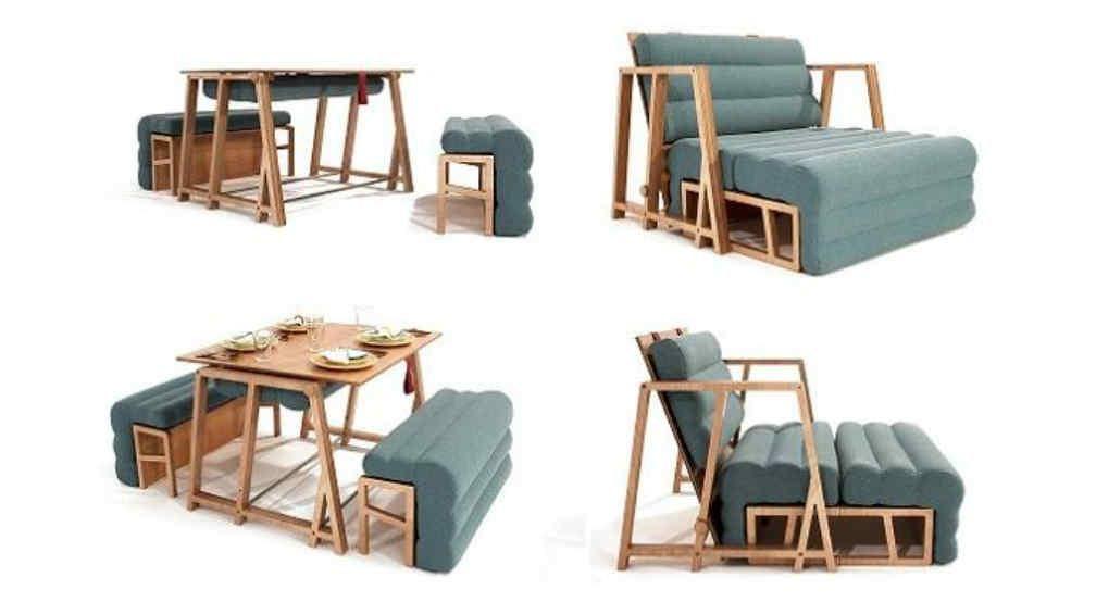 Poco Espacio En Tu Casa Mira Como Son Los Muebles Plegables La Voz Muebles Plegables Muebles Multifuncionales Muebles