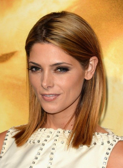 Medium Straight Hairstyles Ashley Greene Medium Straight Hairstyle  Straight Hairstyles And