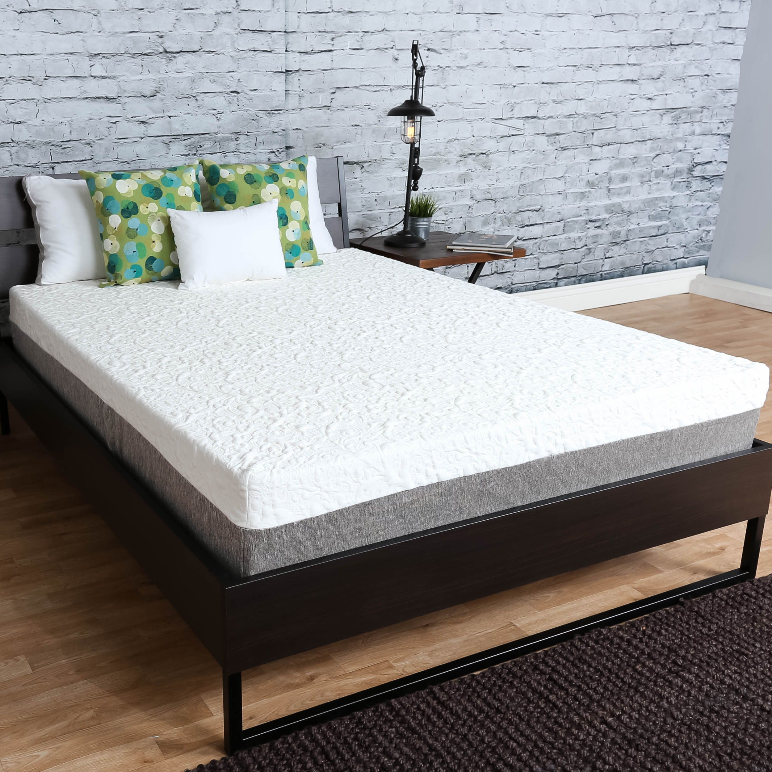 Premier Sleep Products Medium Firm 10 Inch Twin Size Graphite Gel Memory Foam Mattress In 2019 Mattress Memory Foam Bed Slats