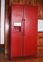 Red Refrigerator Would Go Great With A Red Stove Dream Home