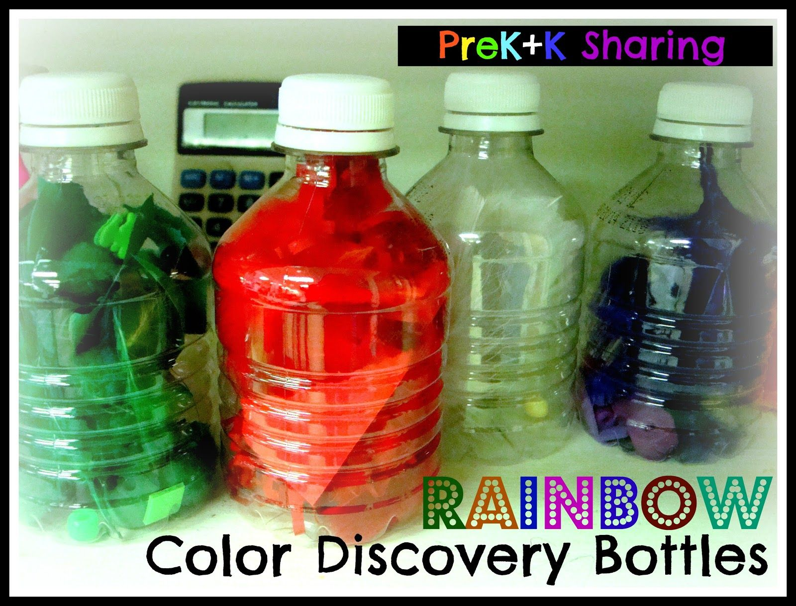 Explore the colors of the rainbow with discovery bottles by Laura ...
