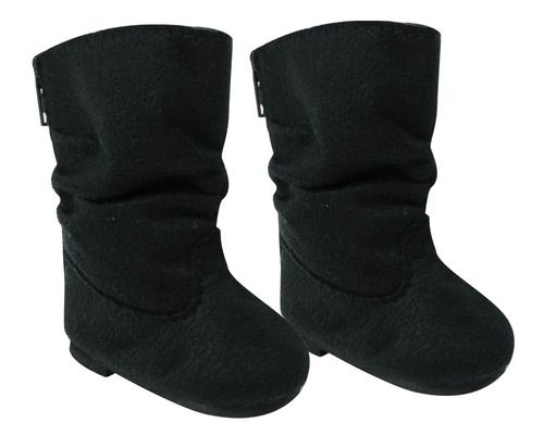Black Suede Boots with Bow Shoes made for 18 inch American Girl Doll Clothes