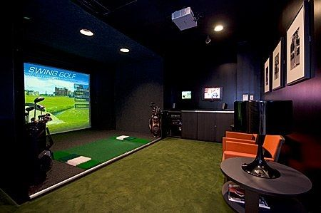 alfa img showing golf simulator room design