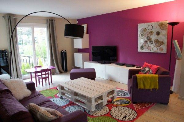 associer gris et framboise Deco Salon Gris Framboise Decoration