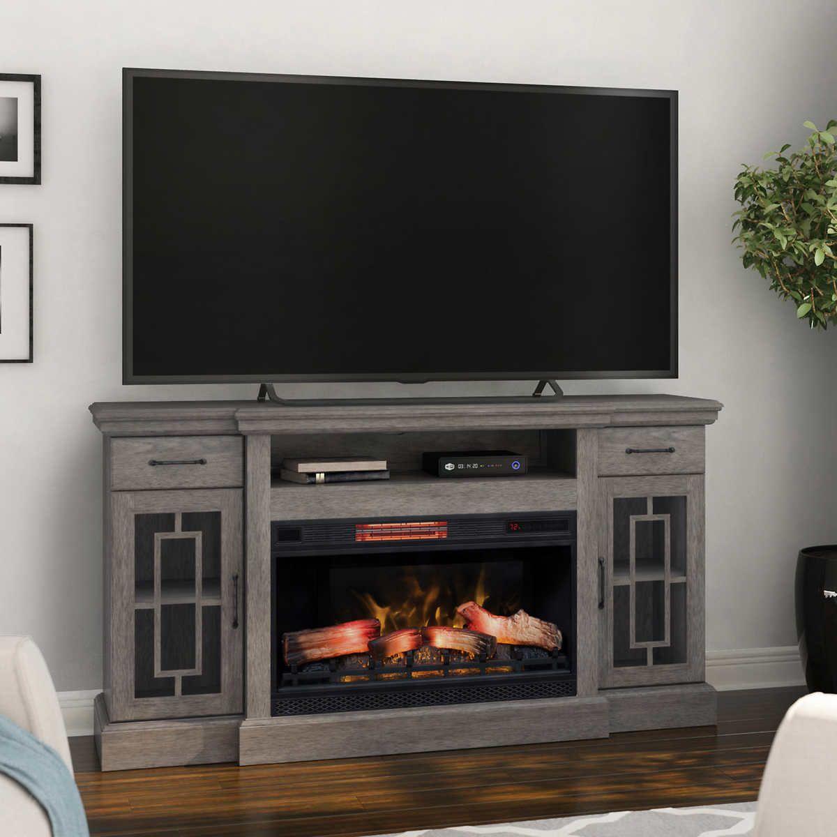 Tresanti Reddington Tv Console With Classic Flame Electric
