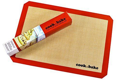 Cooknbake Non Stick Silicone Baking Mat Half Sheet Pan Liner