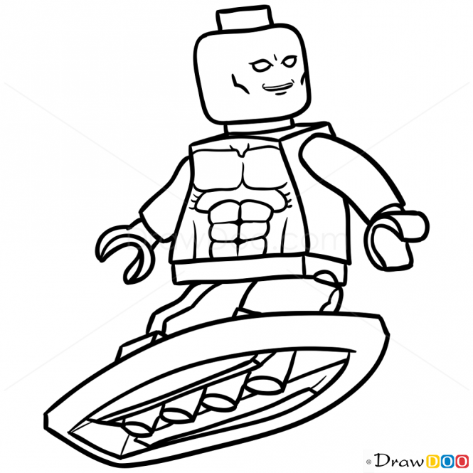 How To Draw Silver Surfer Lego Super Heroes Cool Stuff
