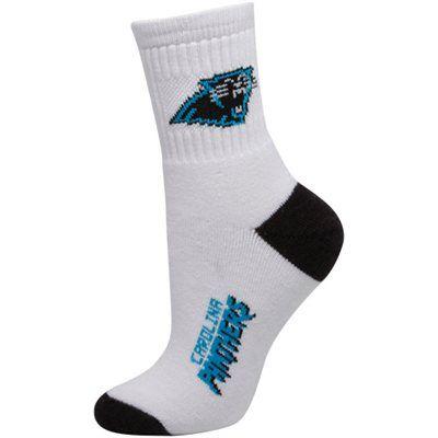 7c9d1edc Carolina Panthers Ladies White Dual-Color Team Logo Crew Socks ...