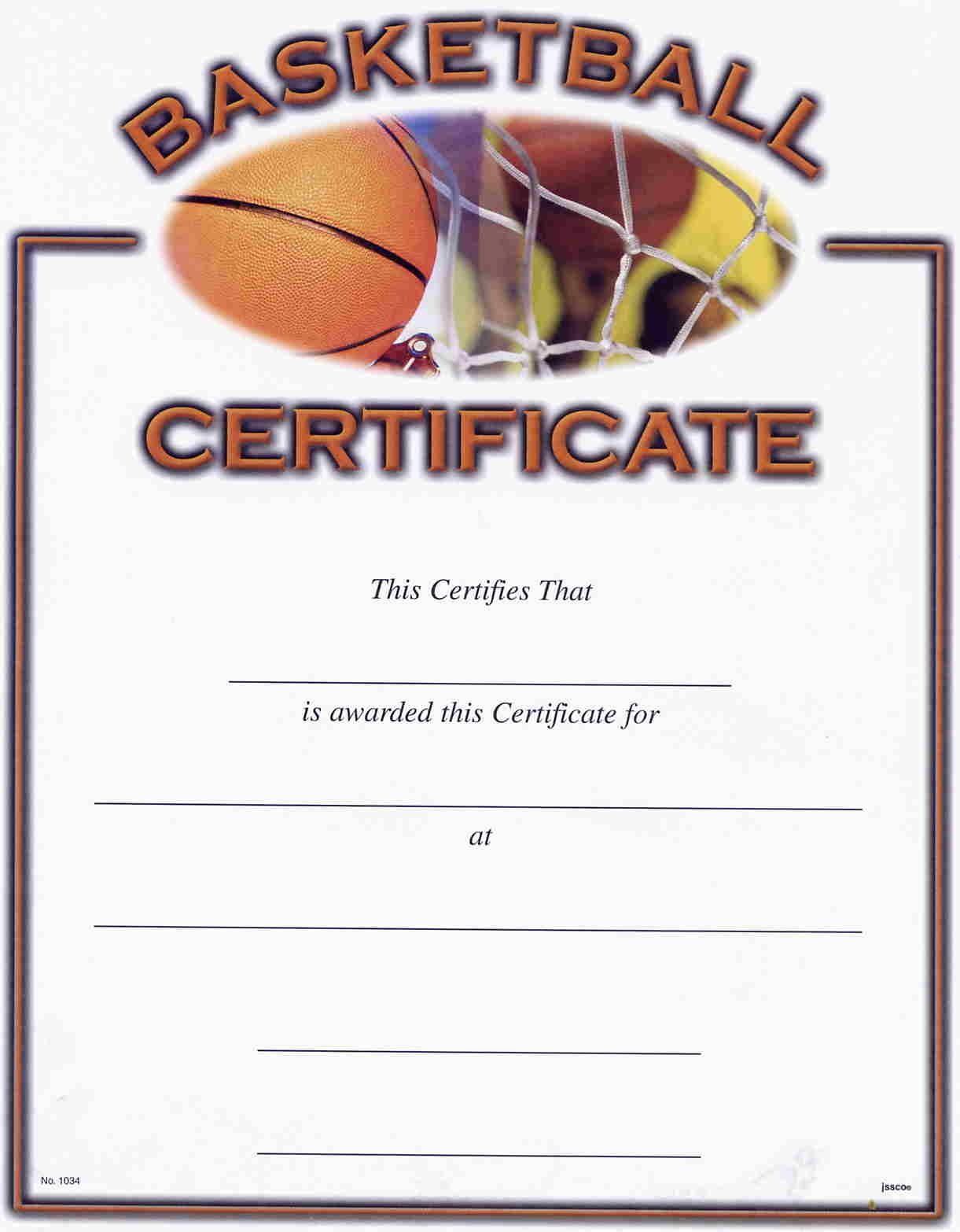 Basketball Award Certificate Reads | school | Pinterest