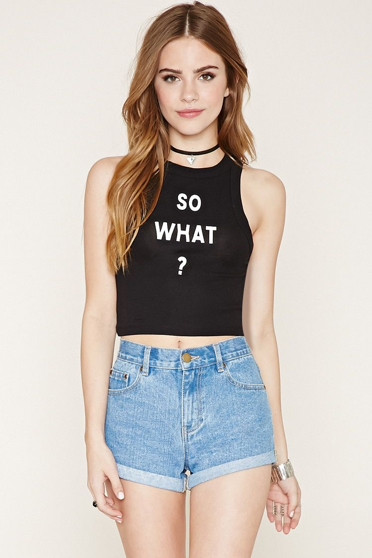So What Crop Top | Sarah's New Look | Pinterest | Clothes ...