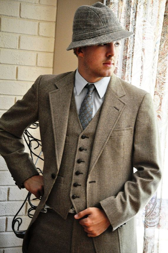 Suit 36/38L-Handsome Vintage Hart, Schaffner & Marx Tweed | Wedding ...
