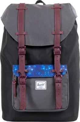 5dff843d2e3 Herschel Supply Co. Little America Mid-Volume Weatherpack Black Kaleidoscope  - via eBags.com!