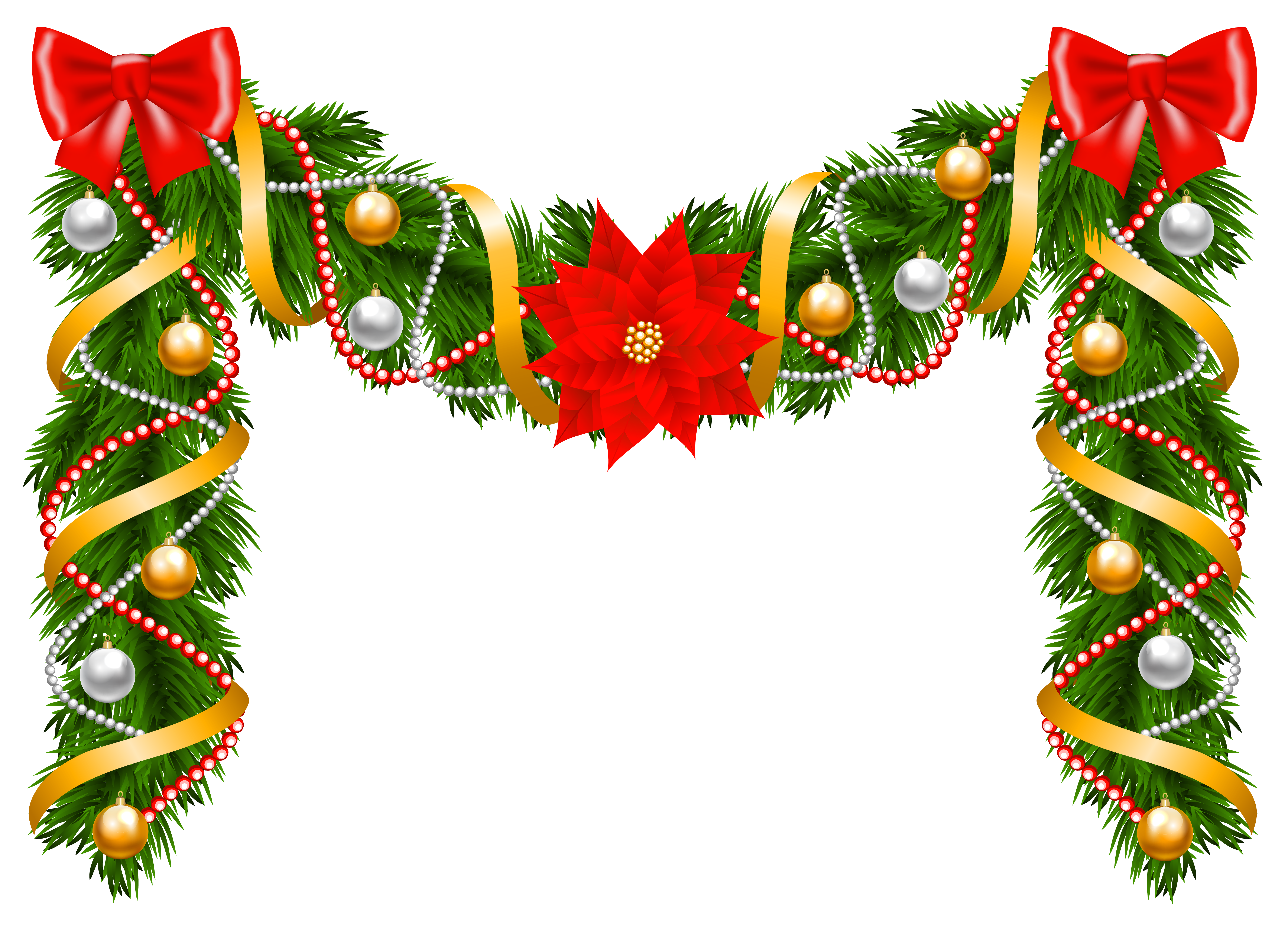 Christmas Deco Garland Png Clip Art Image Christmas Prints Christmas Clipart Paper Flowers Craft