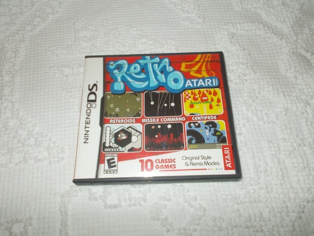 retro atari nintendo ds game cartridge with manual ds games rh pinterest com nintendo ds games manuals pdf nintendo ds games manual