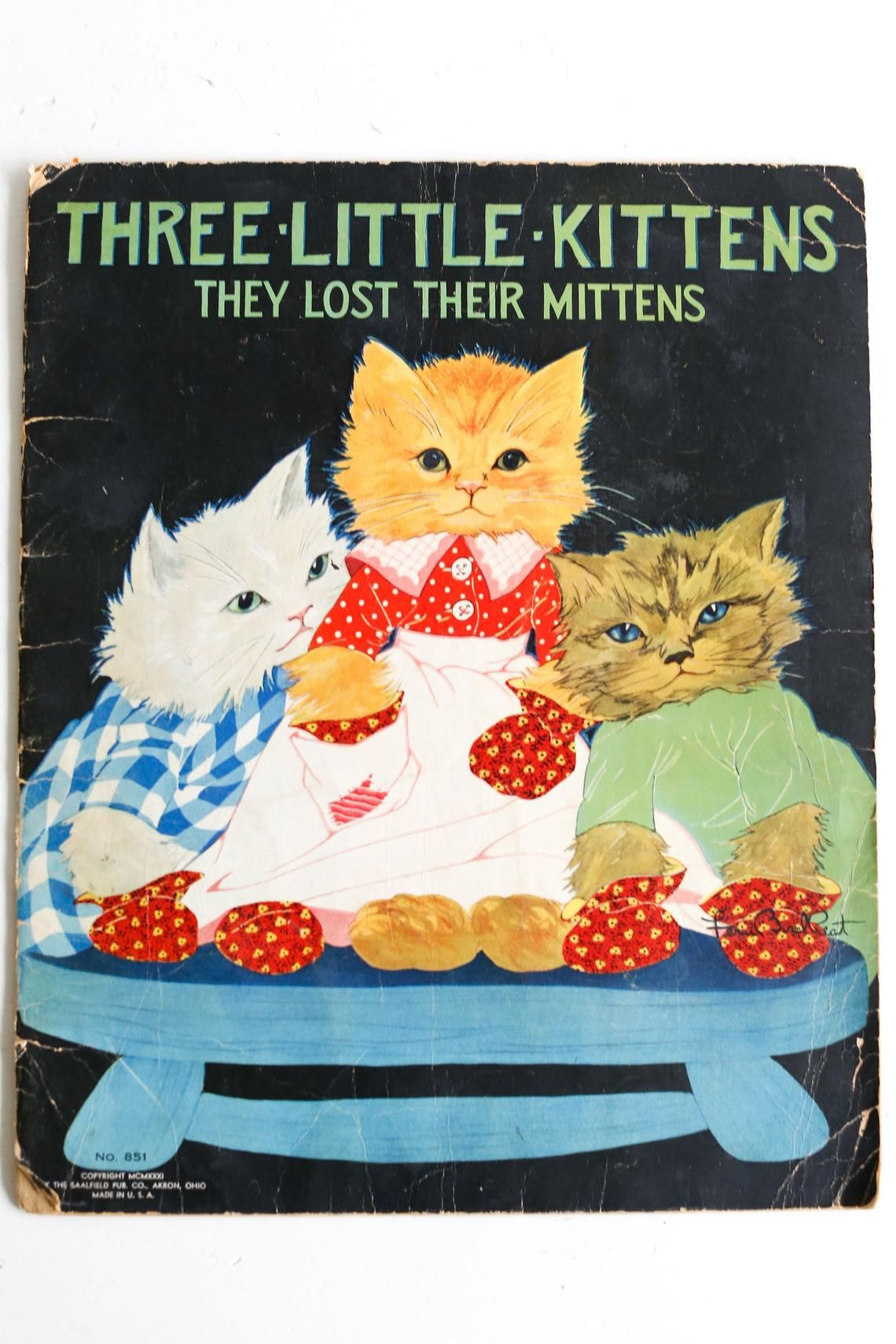 Three Little Kittens They Lost Their Mittens Vintage Etsy Little Kittens Kittens Mittens