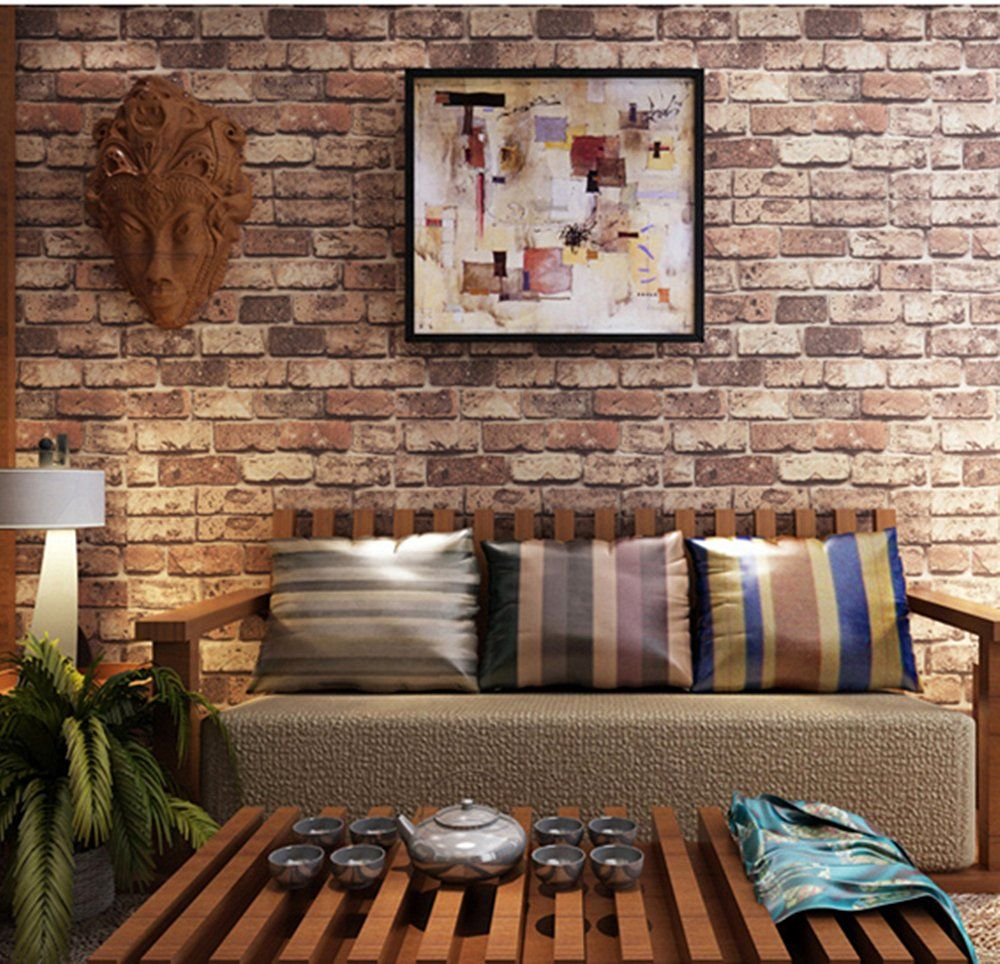 Blooming wall cultural faux rustic tuscan brick wall for 3d brick wall covering