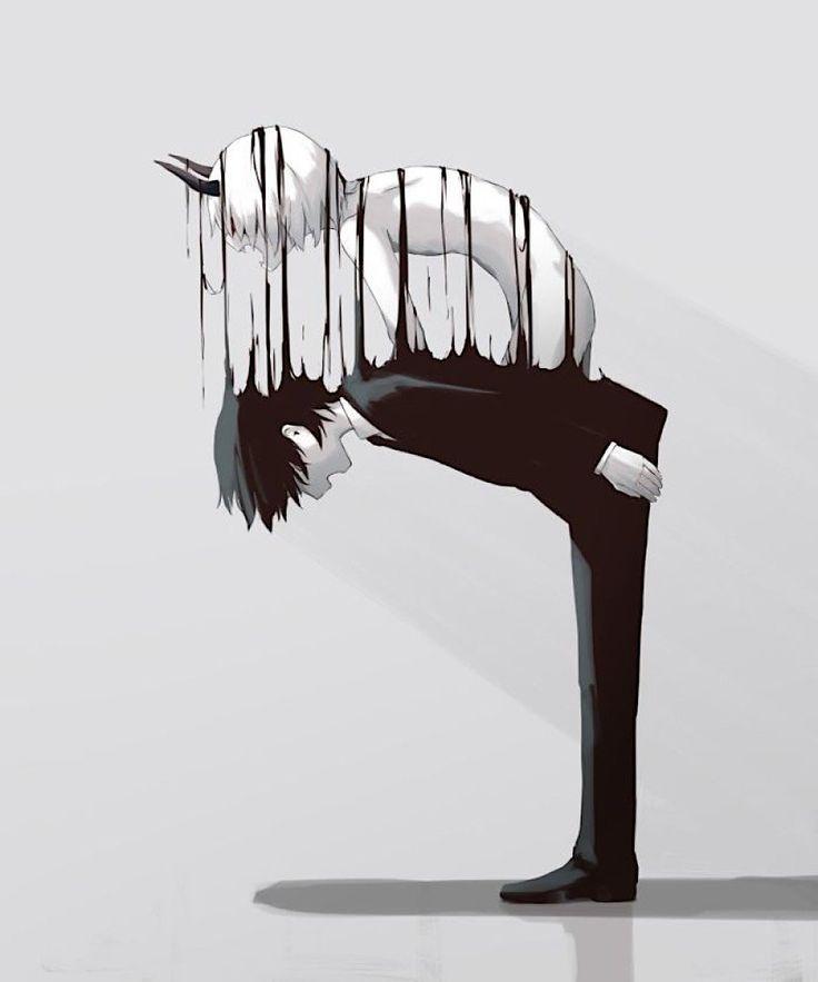 Japanischer Künstler gibt finstere Einblicke in das Seelenleben der Welt Wenn M... Japanischer Künstler gibt finstere Einblicke in das Seelenleben der Welt Wenn M... Idee di Tendenza  Belle Dell'illustrazione Surreale ?