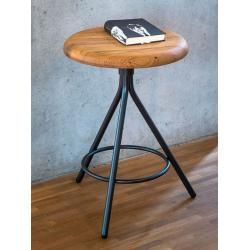 Photo of Triple gray stool, designer cashmere, 46 cm