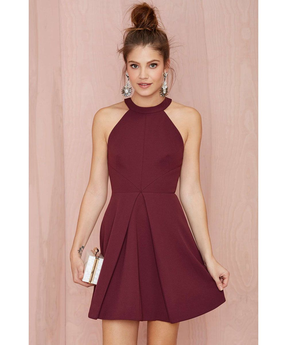 Sexy Burgundy Party Dresses Short Cocktail Dresses 2016 Summer Sexy ...