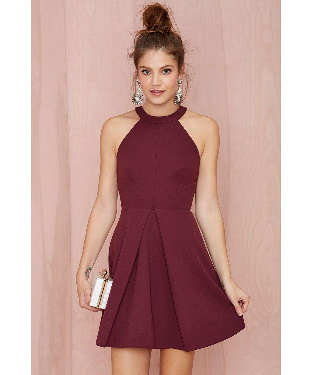 Aliexpress.com : Buy Sexy Burgundy Party Dresses Mini Cocktail ...