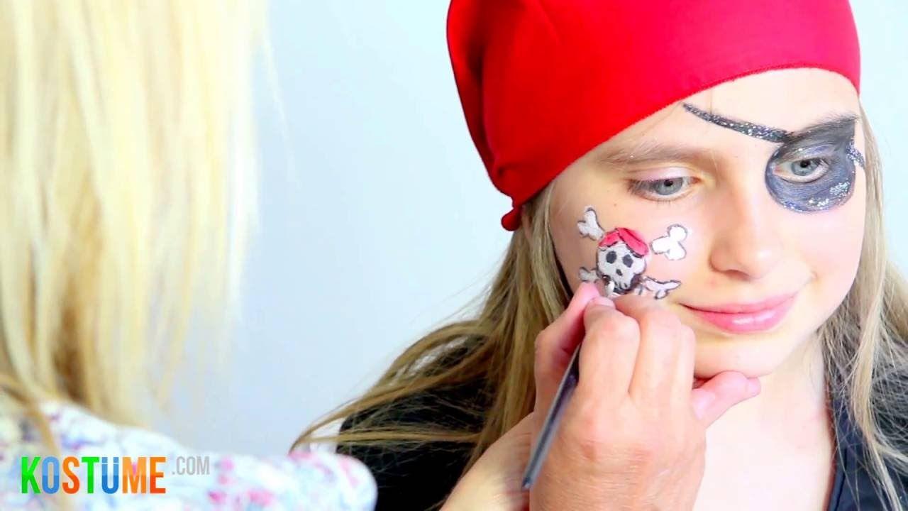 Pirat Schminken Schminkanleitung Tutorial Pirat Schminken Pirat Schminken Kinder Piratin Schminken Madchen