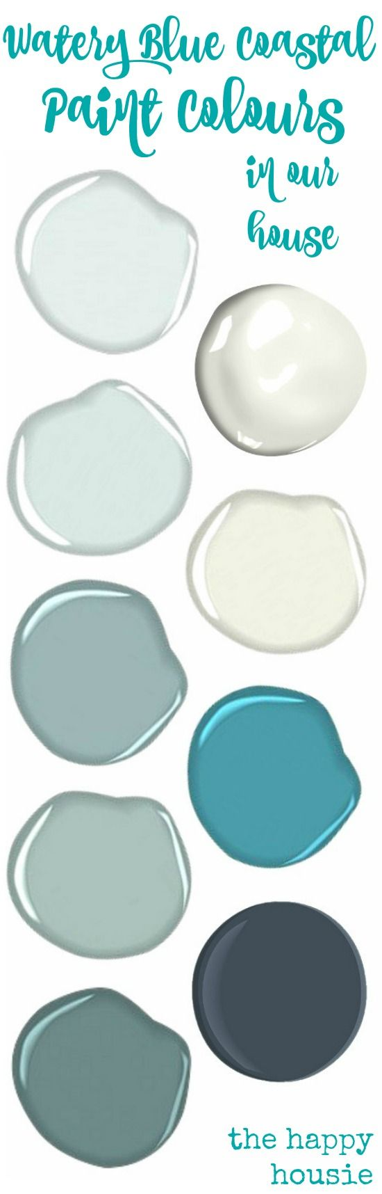 Our paint colours coastal paint colors coastal and house for Watery paint color