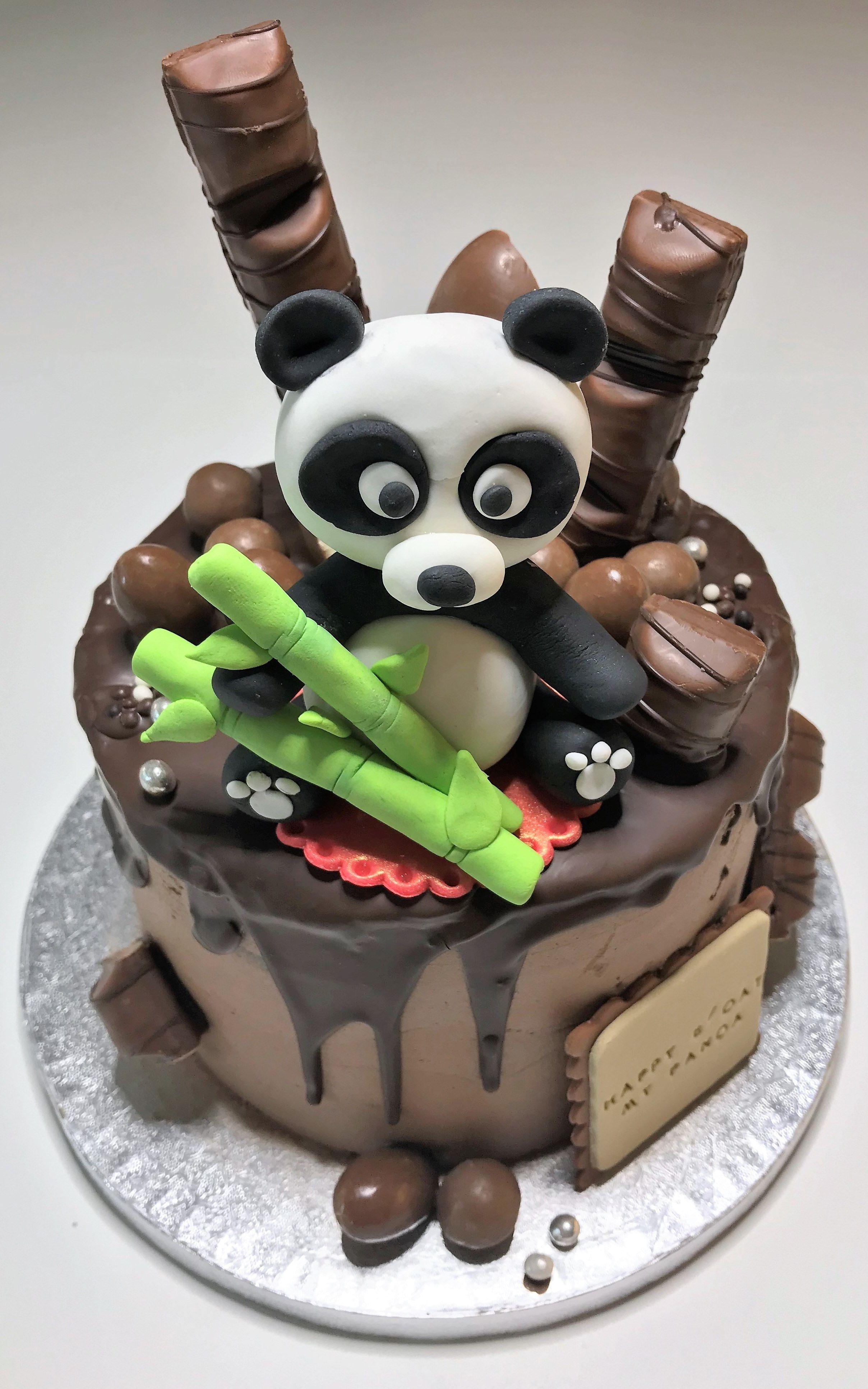 Amazing Panda Drip Cake Panda Cakes Panda Birthday Cake Drip Cakes Funny Birthday Cards Online Alyptdamsfinfo