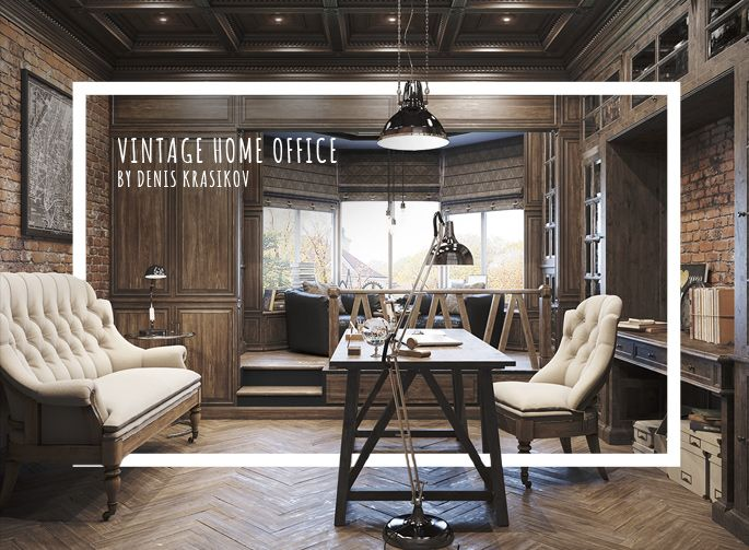 Epic vintage home office design office spaces spaces for Home office space design ideas