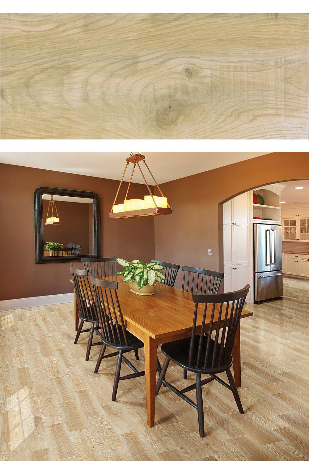 Wood-look tile is a great option if you want the warm ...